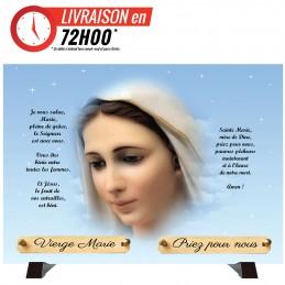 """Plaque Funéraire """"Vierge..."""