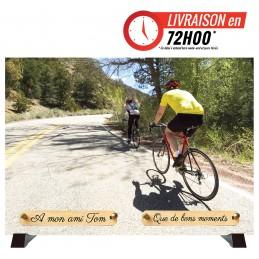 """Plaque Funéraire """"Cycliste"""""""